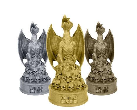 Dragon on Skulls Trophy