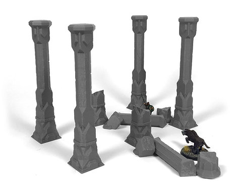 Dwarven Terrain: First Hall Pillars