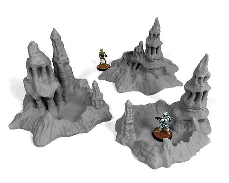 Exo-Planet: Craters with Spires