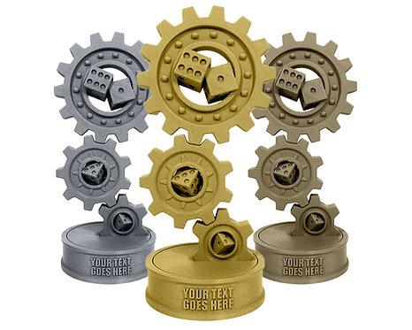 Steampunk Dice Trophy