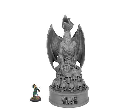 Dragon on Skulls Trophy
