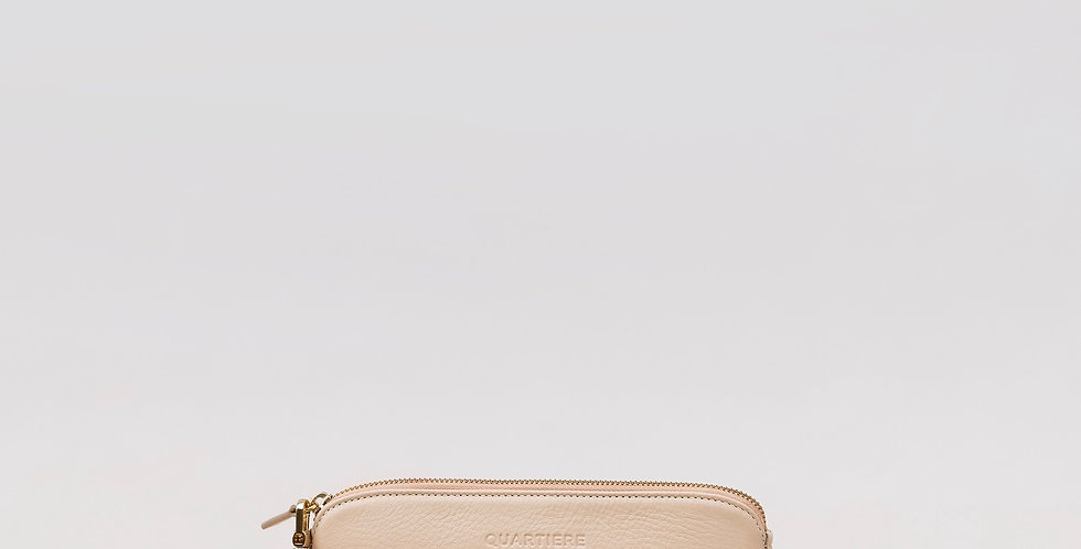 White Leather Clutch Bag