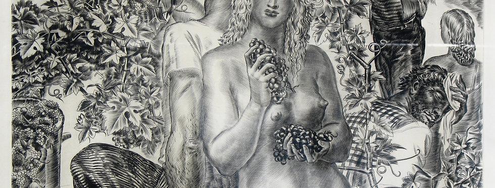 Femme aux raisins