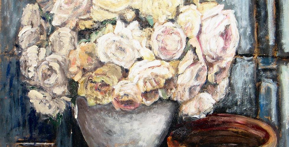 Bouquet de roses pâles