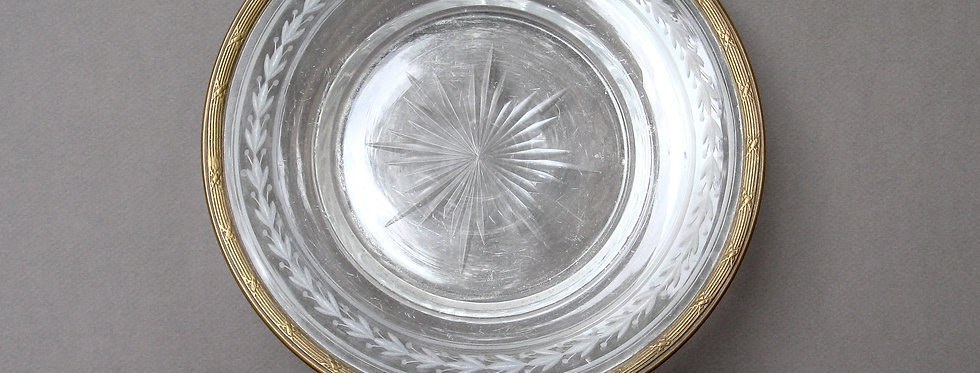 Assiette cerclage de bronze