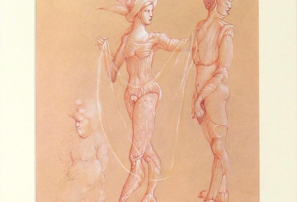 Deux Femmes et petit personnage