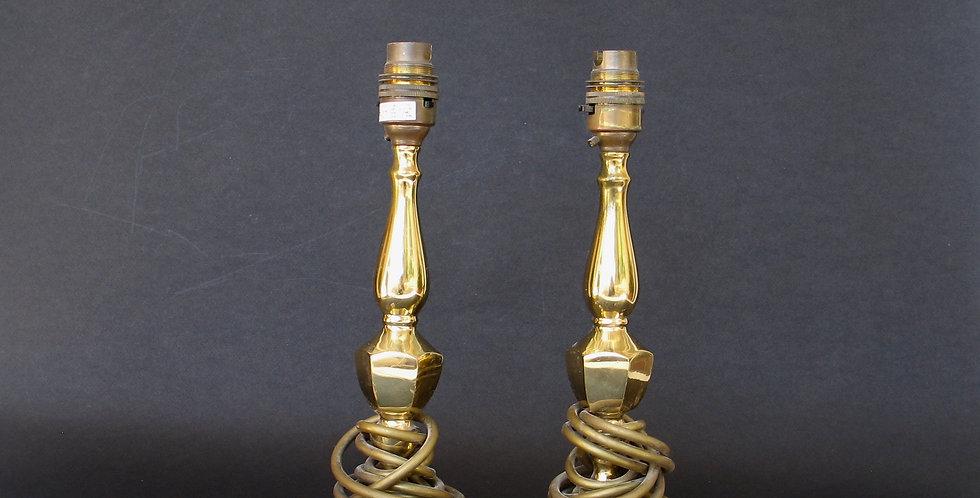 Paire chandelier électrifiés