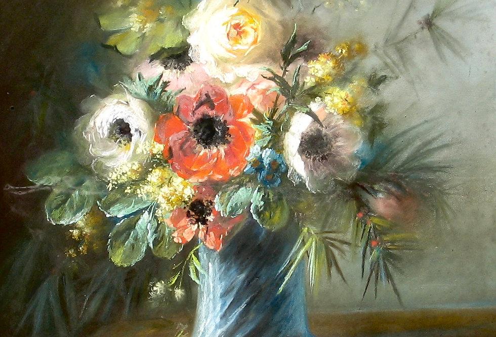 Bouquet de fleurs aux anémones