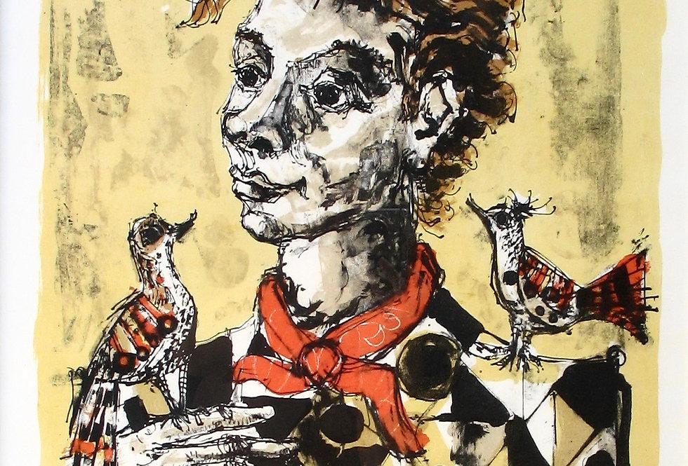 Portrait aux oiseaux