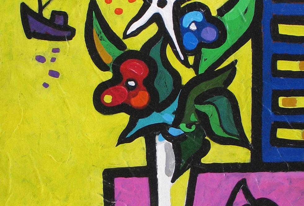 Composition aux fleurs