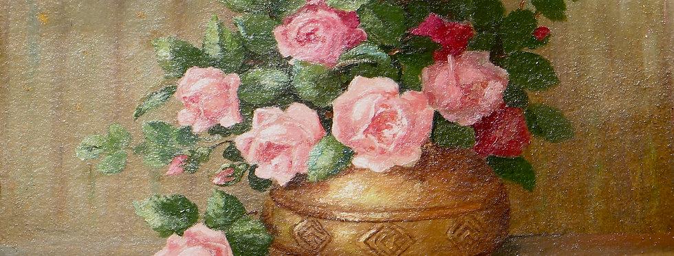 Vase aux petites roses