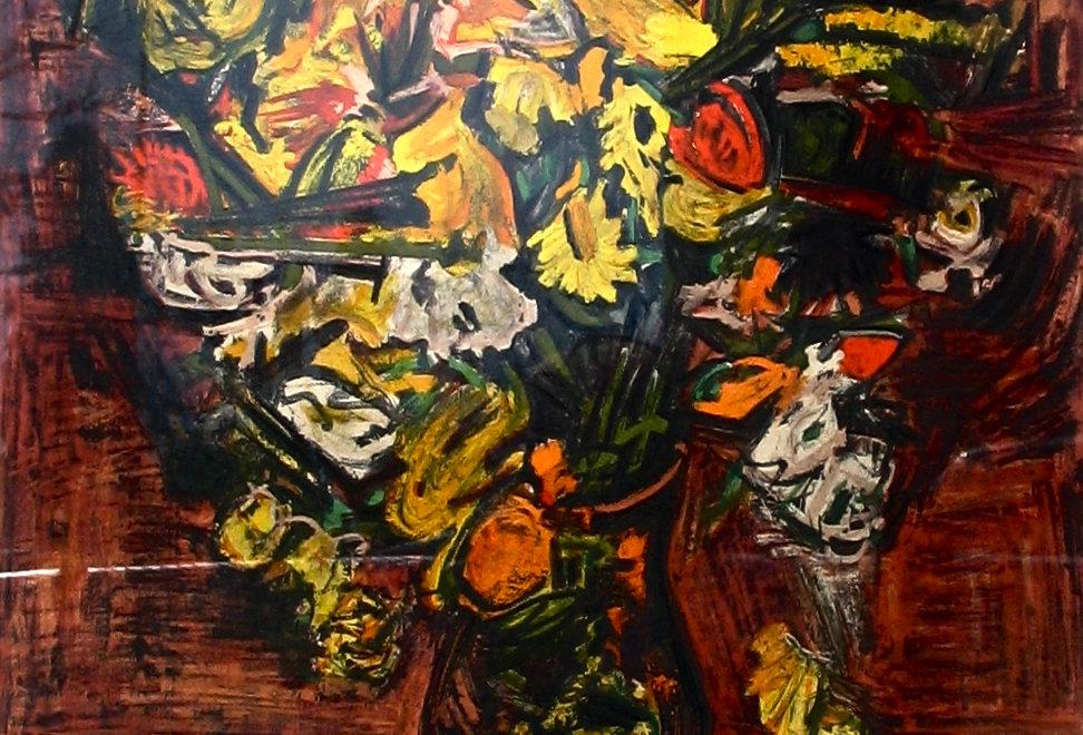 Vase fleurs jaunes