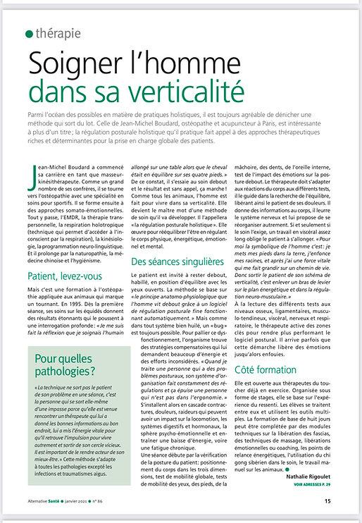 ARTICLE ALTERNATIVE_REGULATION POSTURALE