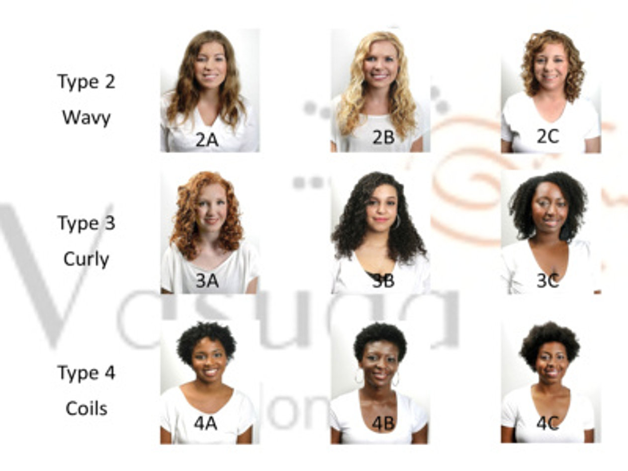 Curly hair seattle tacoma vasuda salon hair type chart pmusecretfo Image collections