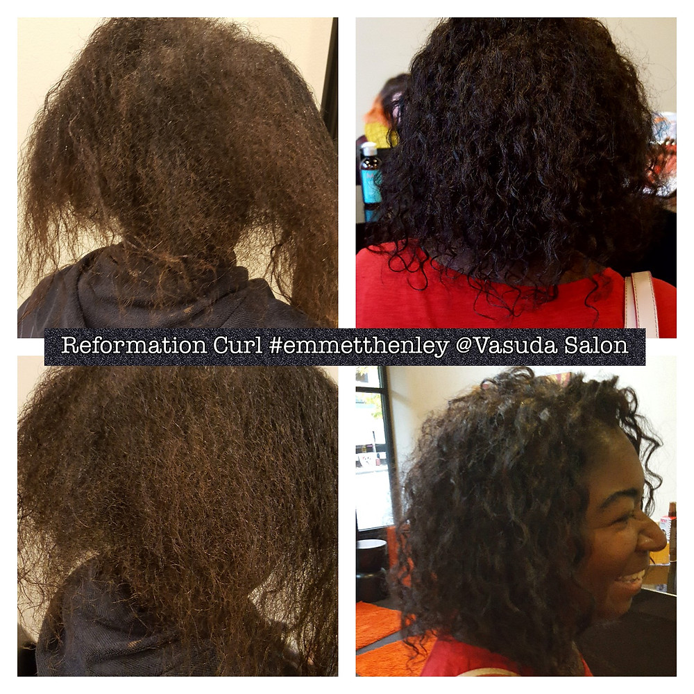 Reformation curl sets hair in the curl pattern you want