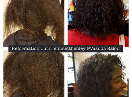 Define and Loosen Natural Curl... (with a little help from Vasuda Salon)
