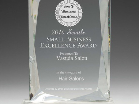 Vasuda Salon selected for 2016 Seattle Small Business Excellence Award
