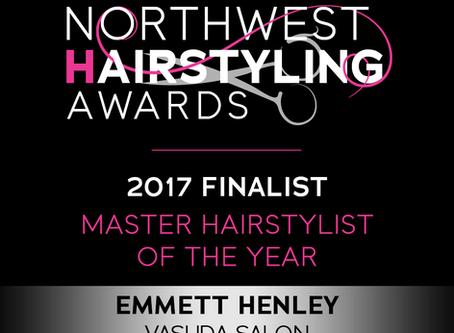 Vasuda Salon Founder Emmett Henley Master Stylist of the Year Award