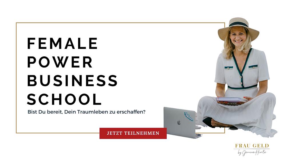 Banner Female Power Business School