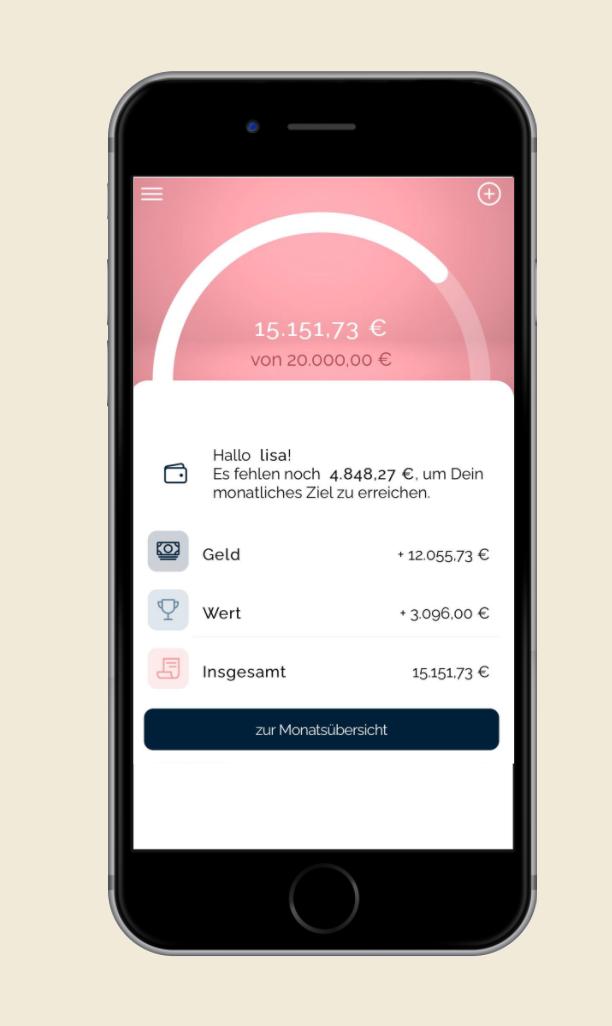 Frau Geld App Screenshot