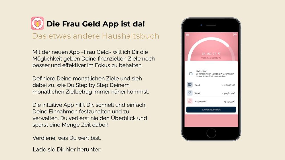 Frau Geld App Beschreibung