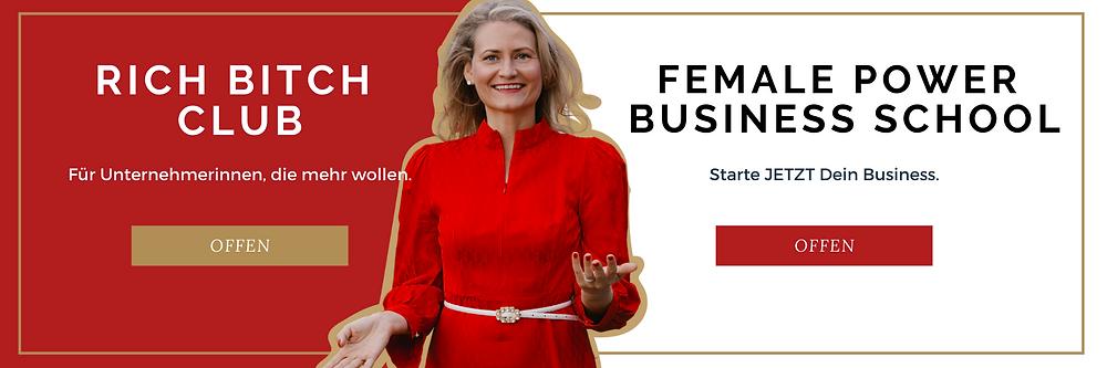 Präsentation Rich Bitch Club und Female Power Business School