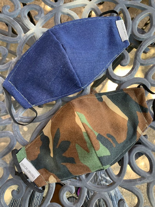 Camo & Denim Reversible Face Mask