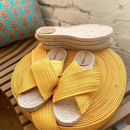 Marigold Braided Elastic Sandals