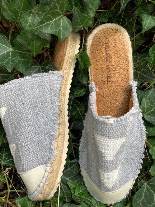 Grey Mud cloth espadrilles