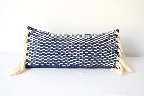 Denim and Rope Pillow