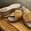 Thumbnail: Marigold Braided Elastic Sandals