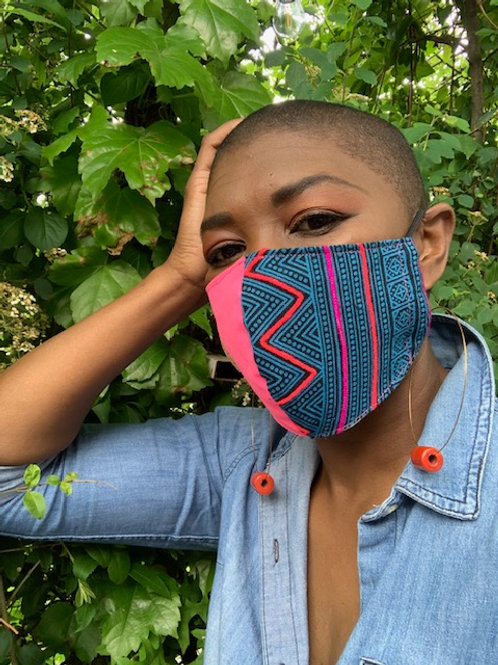 Unity Face Masks - Electric Neon/Teal