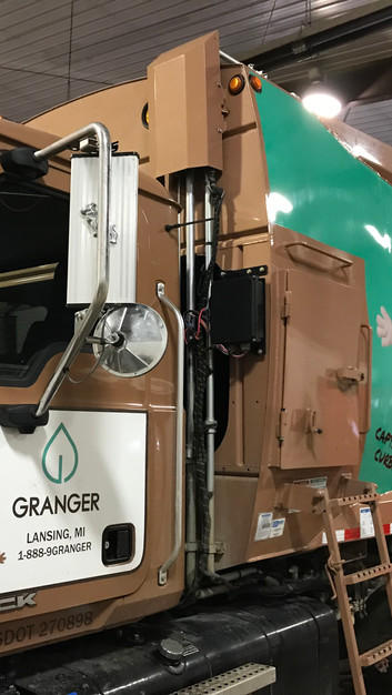 Granger Rear Load Trash truck