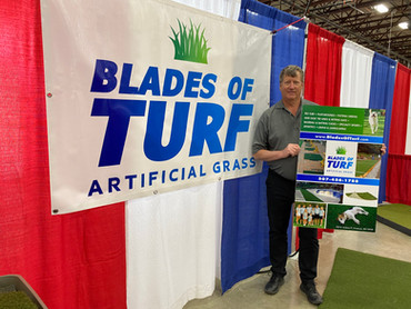Blades of Turf Exhibits at 2021 Owatonna Home & Recreation Show