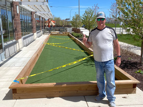 Blades of Turf Installs Bocce Ball Court at Oliver's Restaurant in Shoreview Minnesota