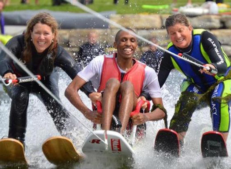 Adaptive athlete-councilman spearheads Shockwaves water ski squad.