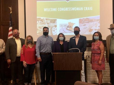 Burkart Leads Highway 169 Corridor Coalition Meeting with Congresswoman Angie Craig