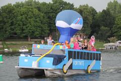 Prior Lake Minnesota Boat Parade sponsored by Knotty Oar Marina!