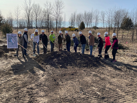 Ground Breaking for Pickleball Courts
