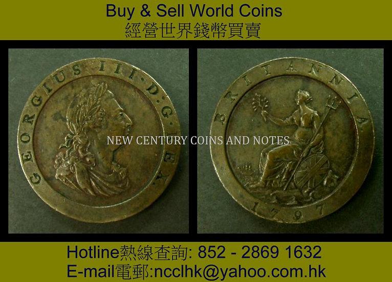 00.001 G.B 1797  1 Penny