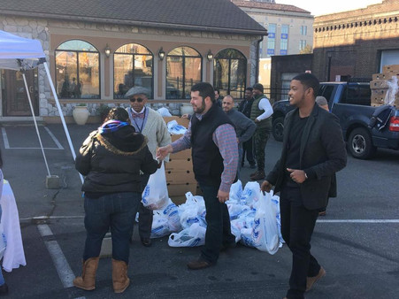 Springfield city councilors, businesses donating turkeys to local families today at 350 Grill (MassL