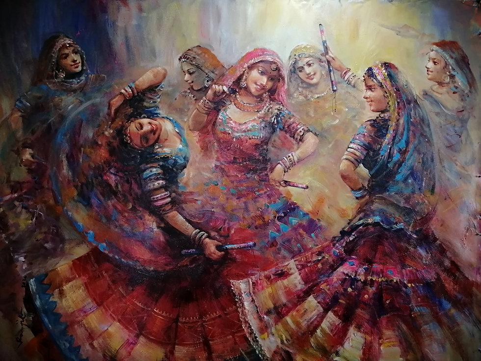 Artist Ranjit Sarkar  paintings