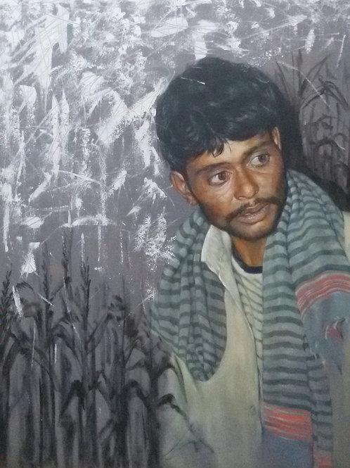 The Farmer (*AIFACS Awarded painting)