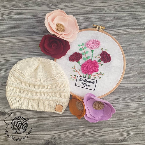 Plain Knit Beanie - Merino