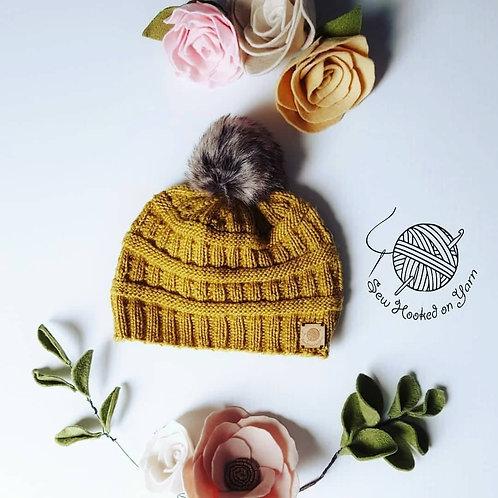 Merino Knitted Pompom Beanie