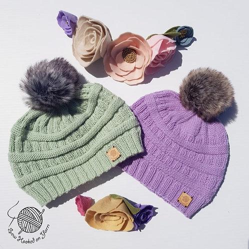 Woollen Knitted Pompom Beanie