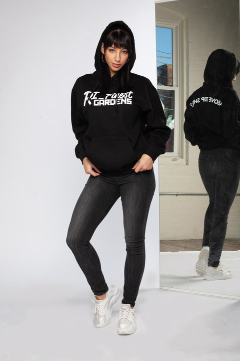 RIFG Black Logo Hoodie