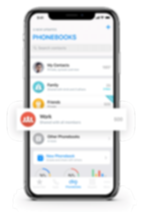 Smart Dialer, Organized Contacts