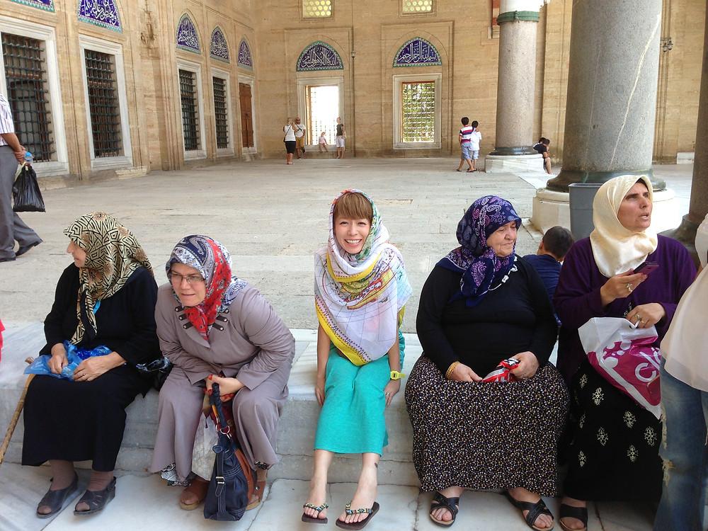 コジマサトコ @ トルコ・イスラム教モスクにて。