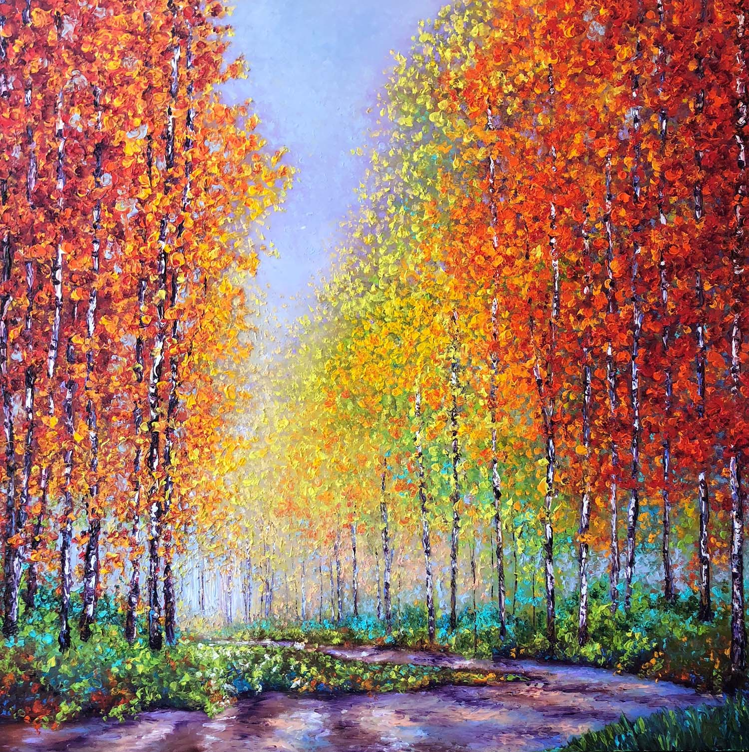 ASPENS IN AUTUMN / 40X40in